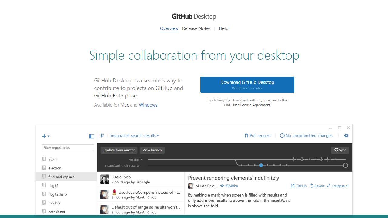 GitHub Desktop Windows Cropped